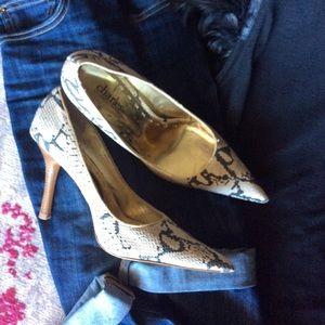 🐘 Charles David Snake Print Stilleto Heels 7.5 🐘